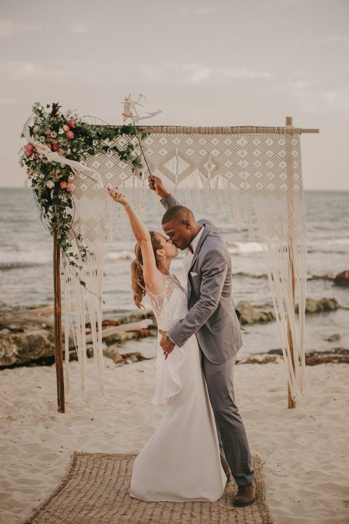 This Tulum Beach Wedding was Styled to the Nines by the