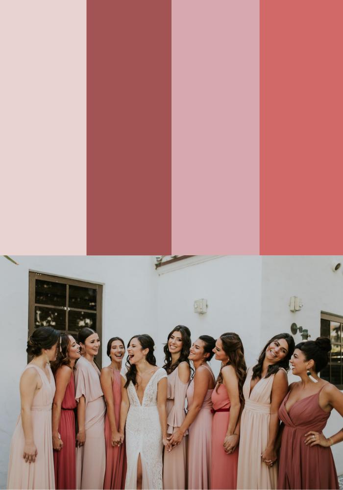 13 Mismatched Bridesmaid Dress Color Palettes Junebug Weddings