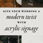Give Your Wedding a Modern Twist With This Acrylic Wedding Signage