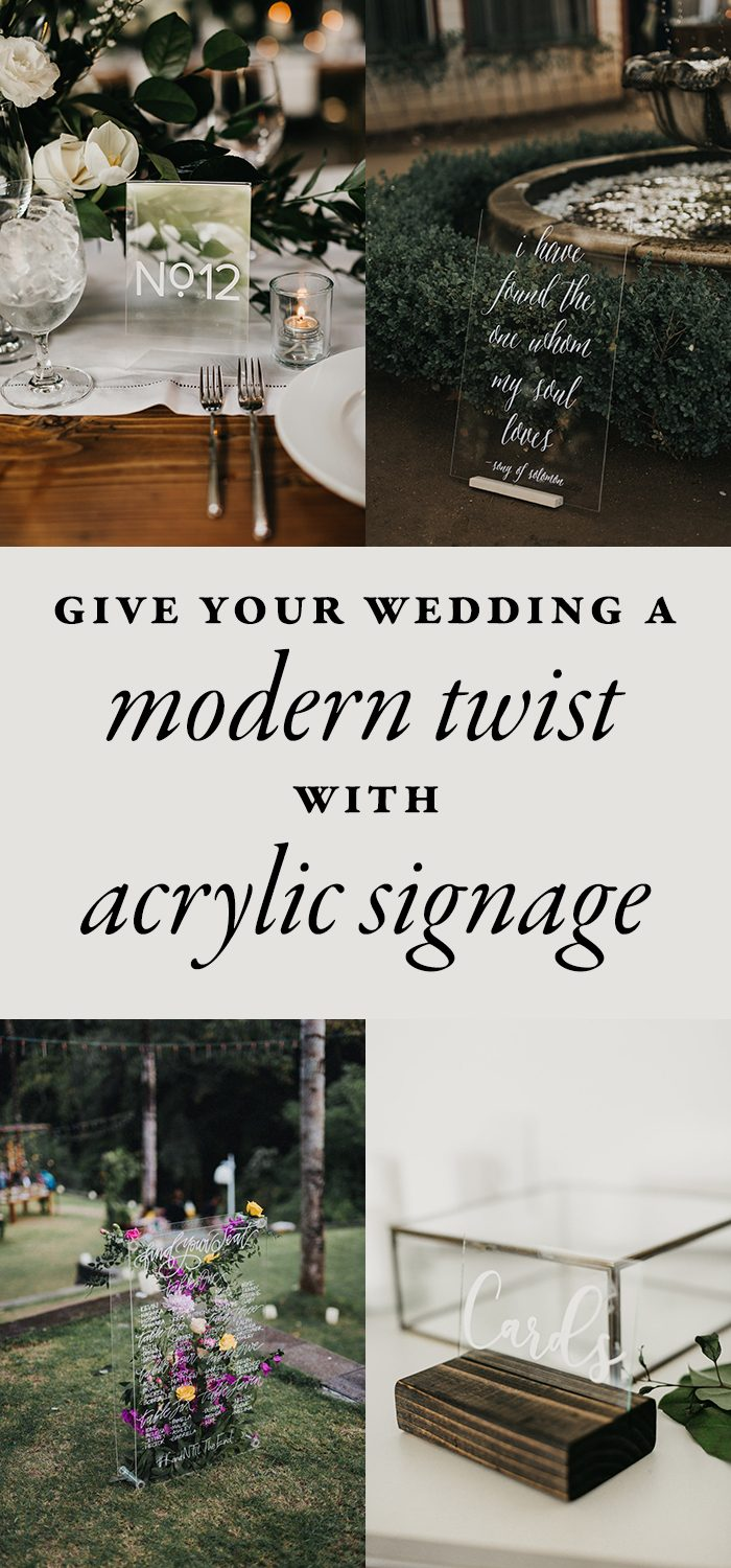 Give Your Wedding a Modern Twist With This Acrylic Wedding