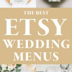 The Best Etsy Wedding Menu Templates