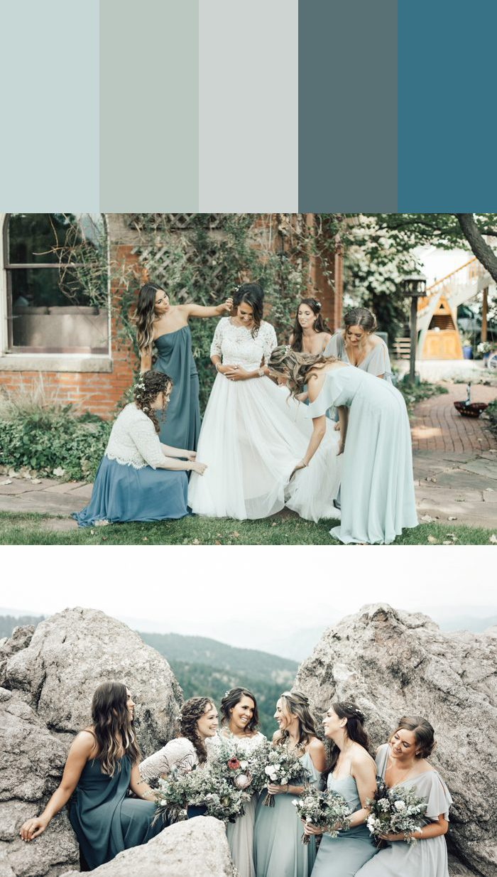 13 Mismatched Bridesmaids Dress Color Palettes