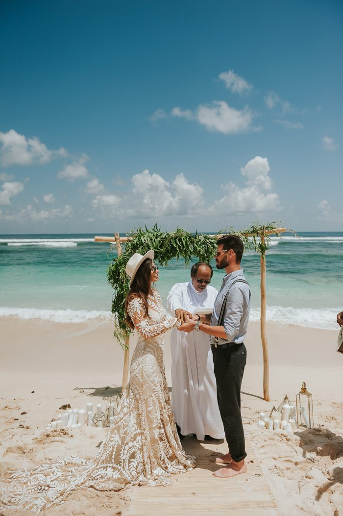 Boho Picnic Style Melasti Beach Wedding In Bali