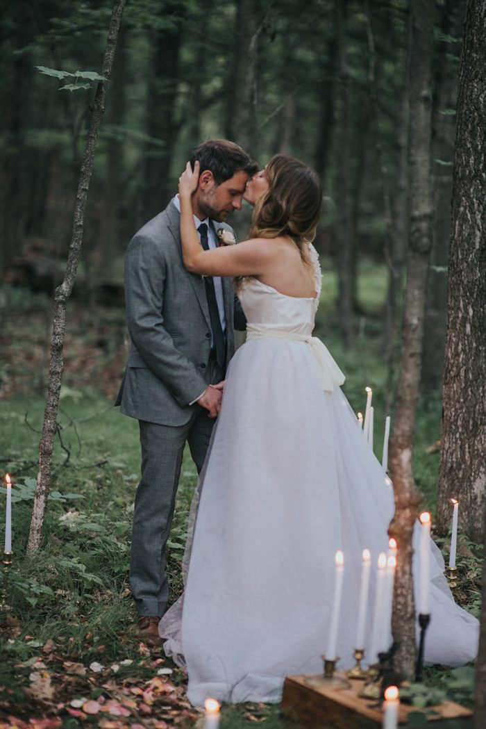 Candlelit Upstate New York Forest Vow Renewal at M & D Farm ...