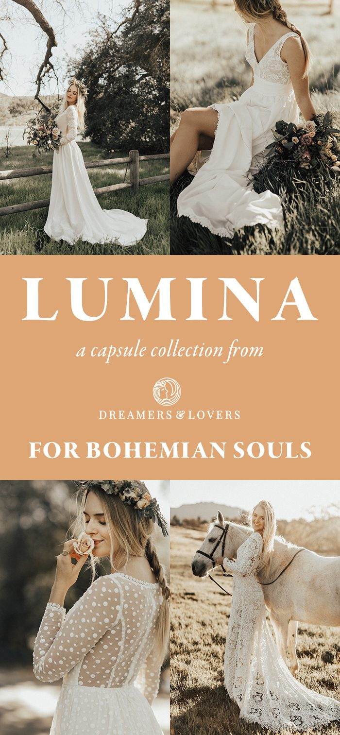 e84ad6542ce ... when Dreamers   Lovers reached out to let us in on what they ve been  working on – a brand new mini capsule collection of gowns for bohemian  brides!