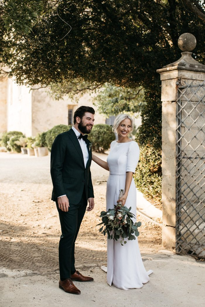 11399ea1c4f Silje and Julian gave us all the timeless elegance our hearts could take in  their sophisticated outdoor wedding at Domaine de Ribaute.