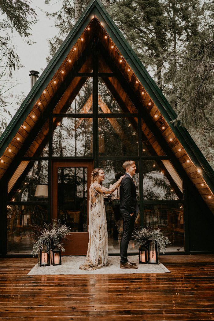 This A Frame Cabin Elopement Inspiration Is The Epitome Of