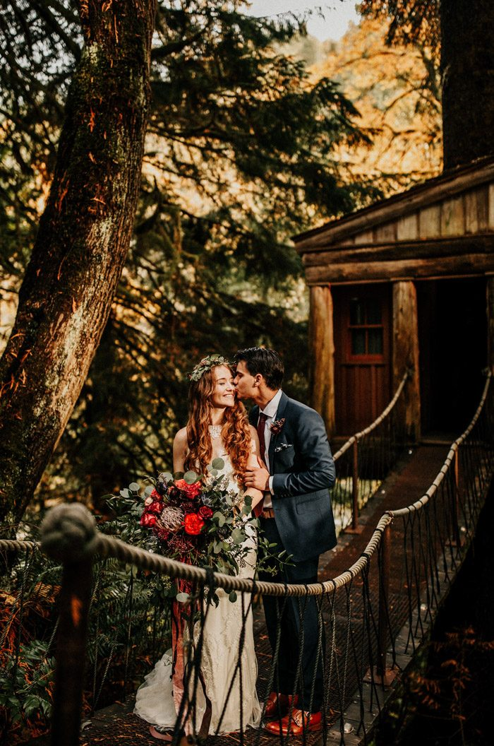 This Personal Treehouse Point Wedding Is Pure Pnw Eye Candy