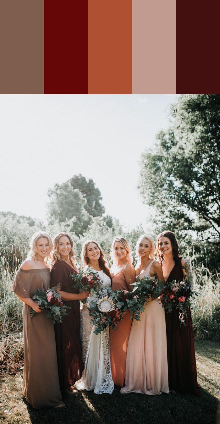 13 Mismatched Bridesmaids Dress Color