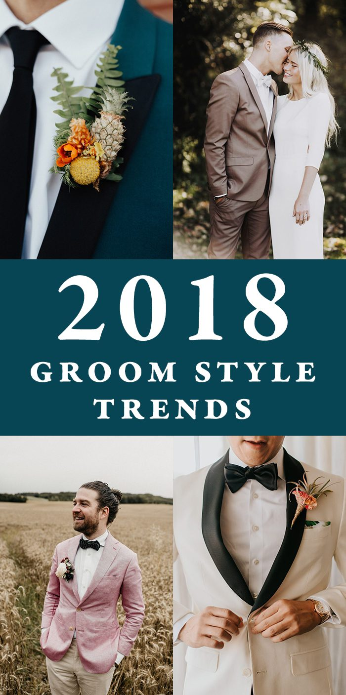 2018 Groom Style Trends | Junebug Weddings
