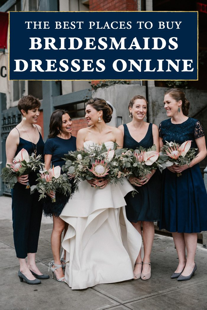 The Best Places To Buy Bridesmaids Dresses Online Junebug Weddings