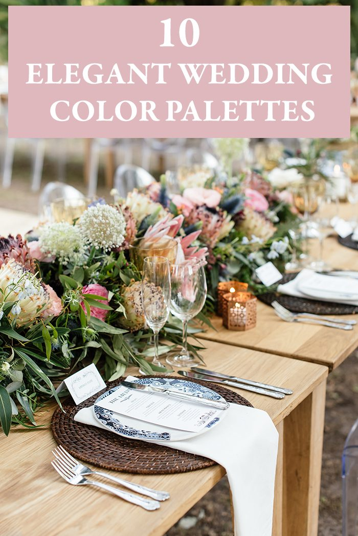 10 elegant wedding color palettes junebug weddings photo by wesley vorster junglespirit Gallery