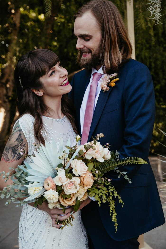 Wedding blog for real wedding ideas inspiration junebug weddings mary and matts creative personalities were on full display in their los angeles wedding at the fig house the venue provided a classic mid century modern junglespirit Choice Image