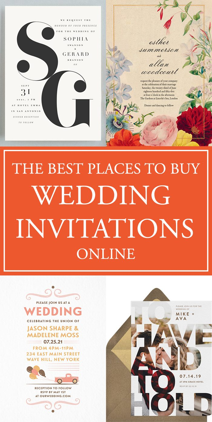 The Best Places to Buy Your Wedding Invitations Online | Junebug ...