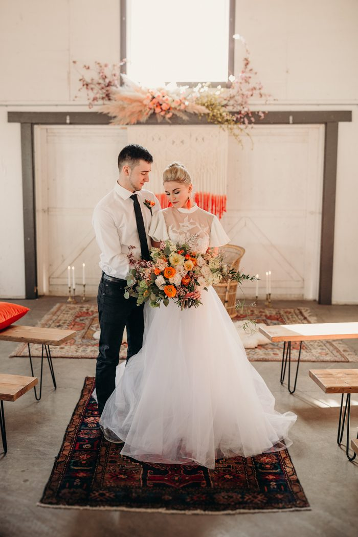 91839b0bfbf This Vintage Inspired Wedding Shoot at Dairyland is Full of Pops of ...