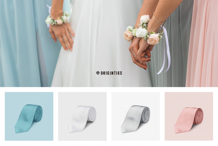 It S Never Been Easier To Match Your Wedding Ties To Your Bridesmaids Dresses Junebug Weddings