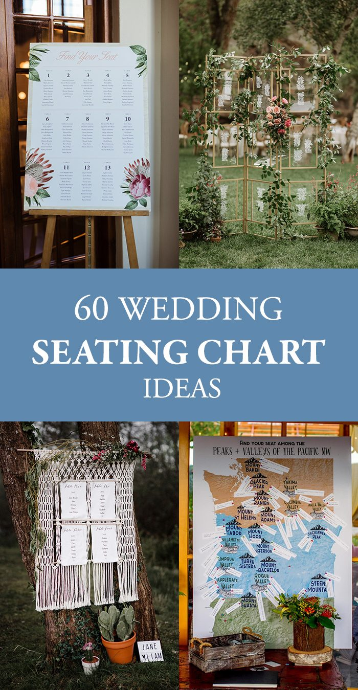 When It Comes To Reception Decor Your Wedding Seating Chart Might Be The Most Practical Item But That Doesn T Mean You Can Get Creative With