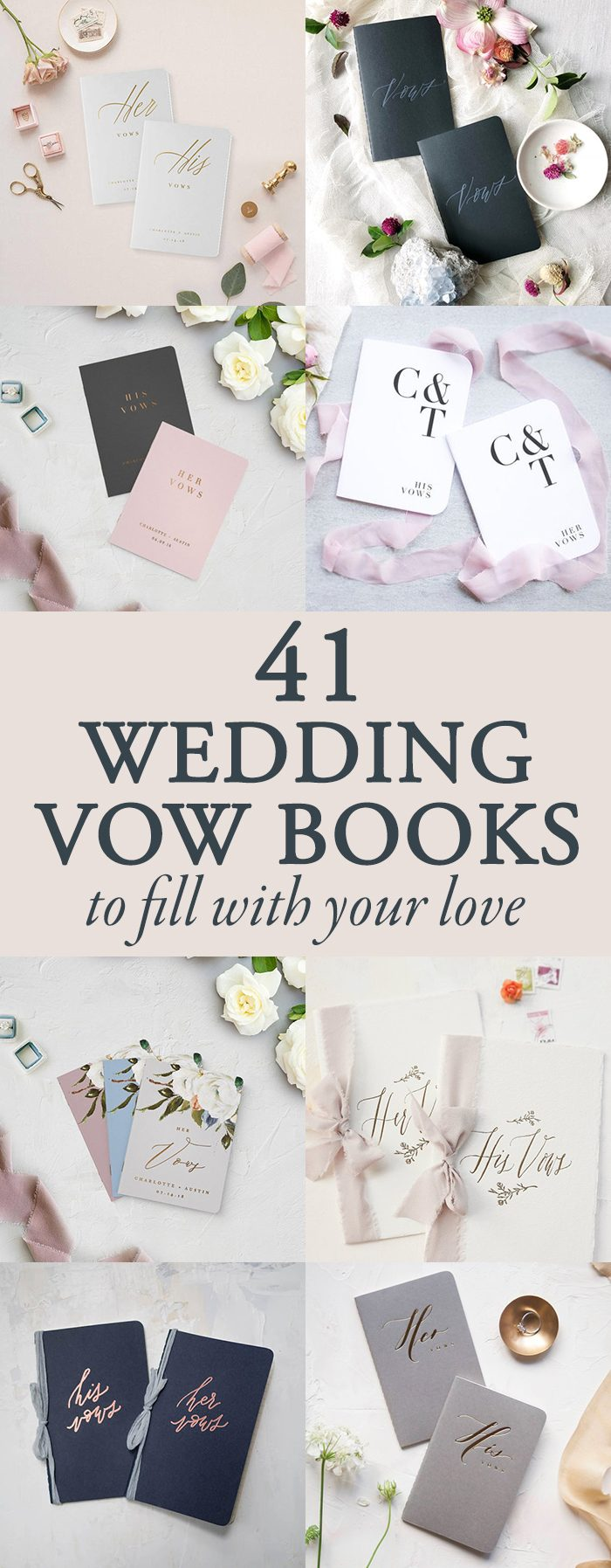 41 Wedding Vow Books To Fill With Your Love Junebug Weddings
