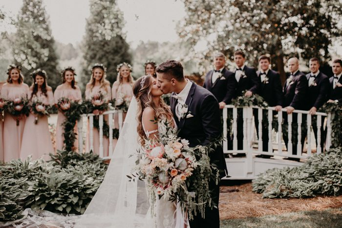 Navy And Blush Wedding.Boho Brides Will Want To Take Notes From This Blush And Navy Carl