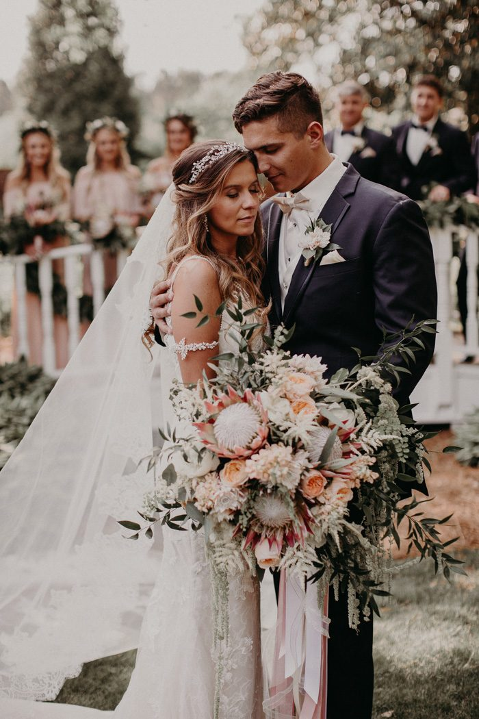 Boho Brides Will Want To Take Notes From This Blush And Navy Carl