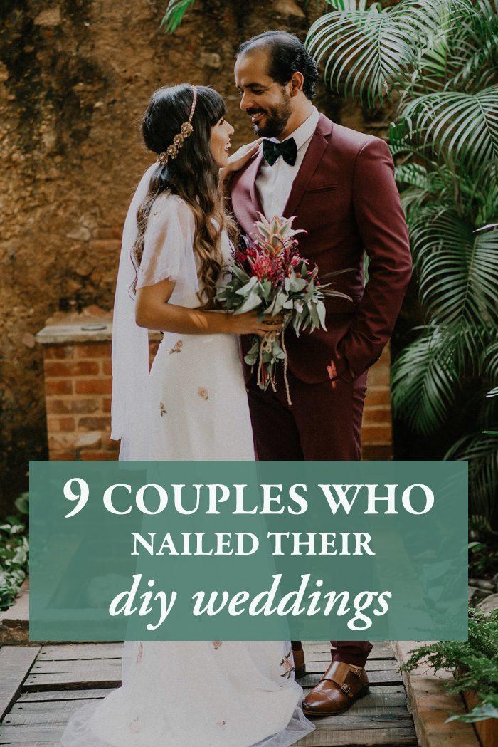 130bf0bdc0 9 Couples Who Nailed Their DIY Weddings | Junebug Weddings