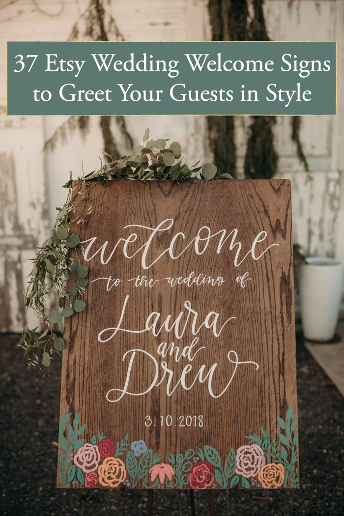 37 Etsy Wedding Welcome Signs That Will Help You Greet