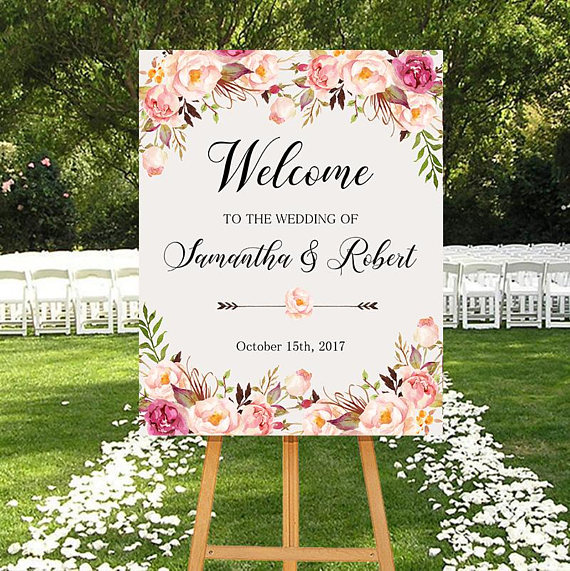 37 Etsy Wedding Welcome Signs That Will Help You Greet ...
