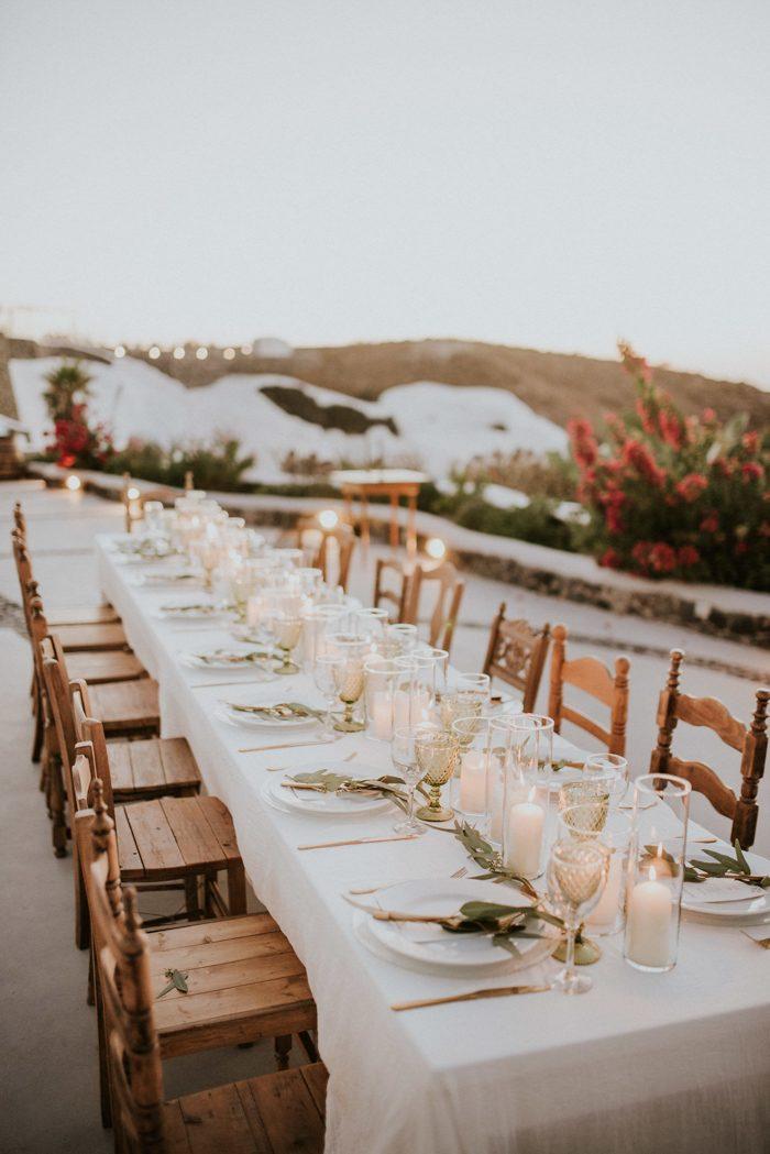 Romantic Eucalyptus Inspired Santorini Wedding At