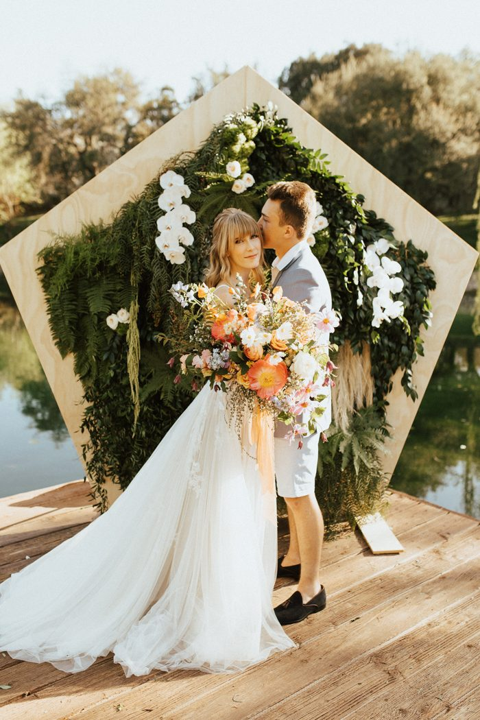 This san diego wedding inspiration has us feeling summer with its from wildflowers to a ground level sweetheart table this san diego wedding inspiration is perfect for the laidback brides and grooms junglespirit Image collections