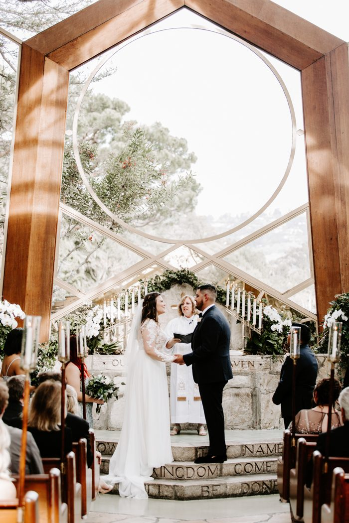 Wayfarer Chapel Wedding | This Chic Wayfarer S Chapel Wedding May Look Effortless But The