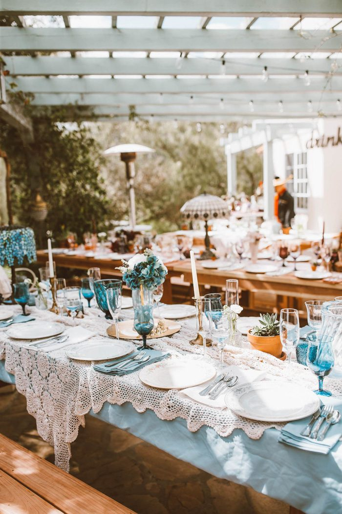 This Eclectic Wedding At Home Came To Life With Thrift Store