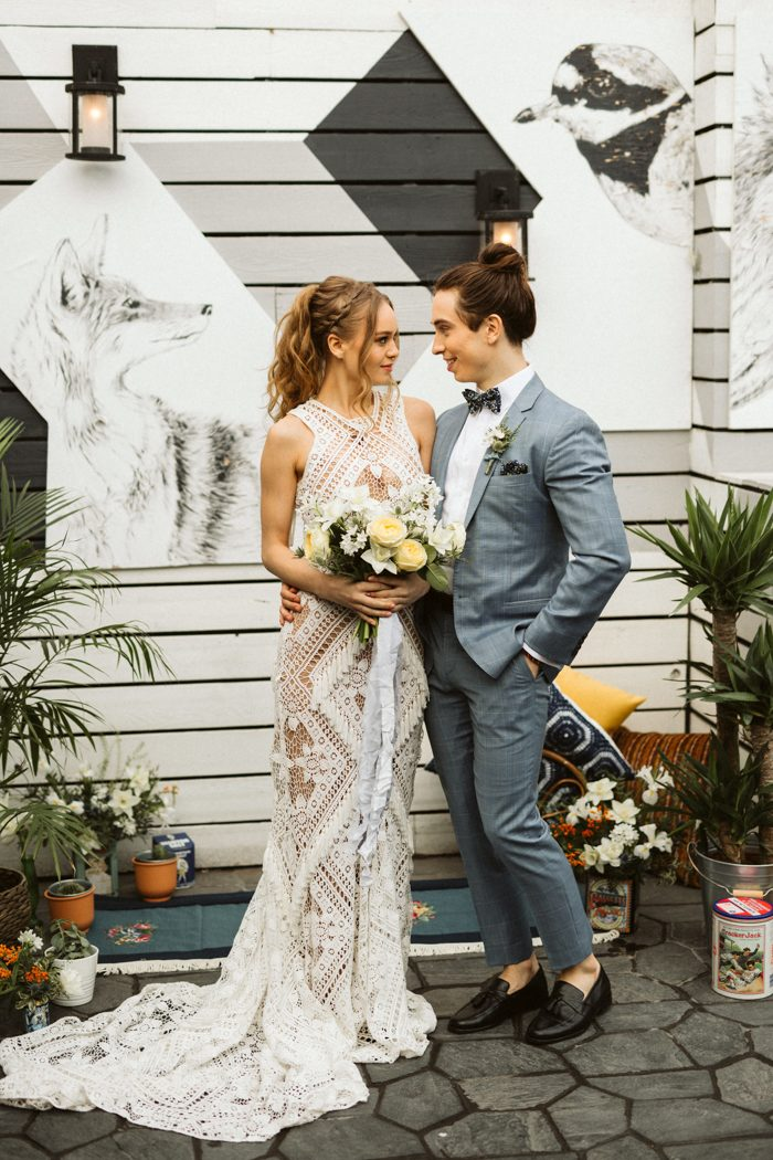 This Bohemian Inspired Wedding Has Vintage Vibes That Will Have You Thinking Re Back In The 70s Moon And Her Stars Styled An Intimate Ceremony