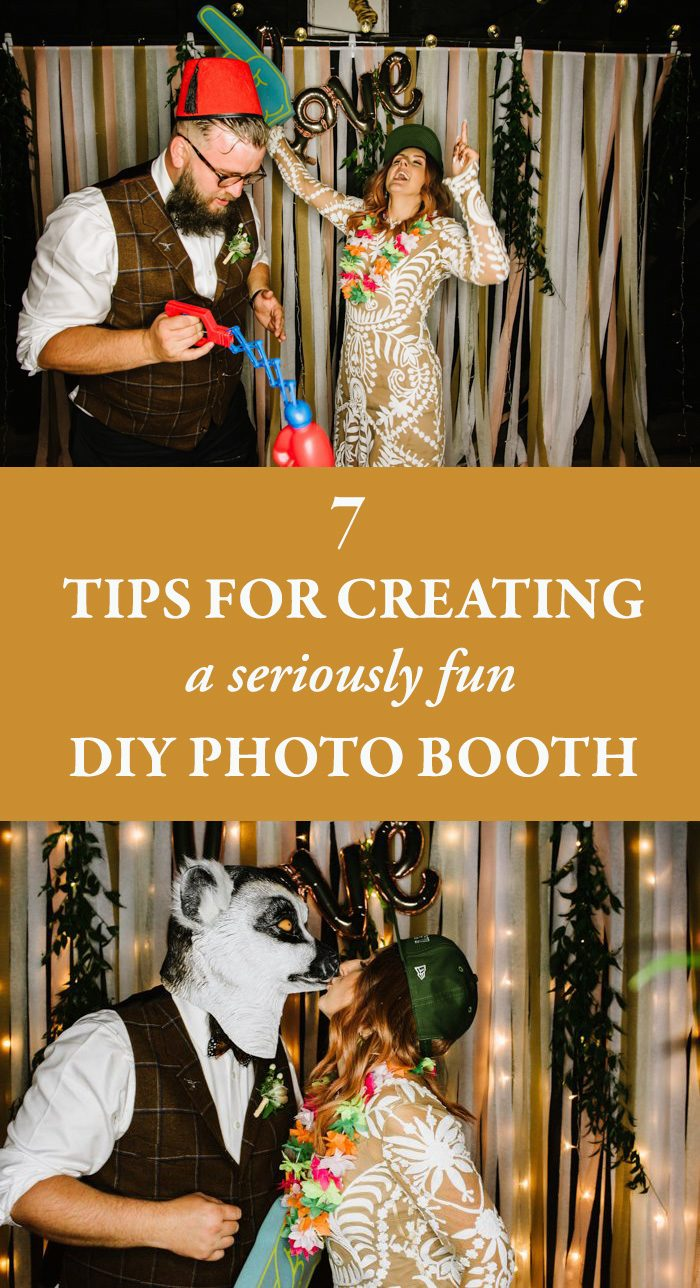 7 Tips For Creating A Seriously Fun Diy Photo Booth Junebug Weddings