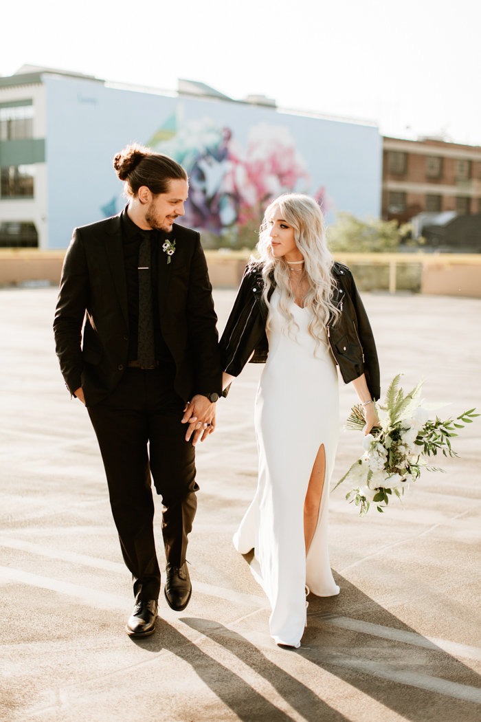 Botanical Black And White Millwick Wedding In Los Angeles