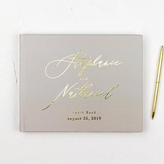 Personalized Wedding Guest Book.The Best Etsy Wedding Guest Books Junebug Weddings