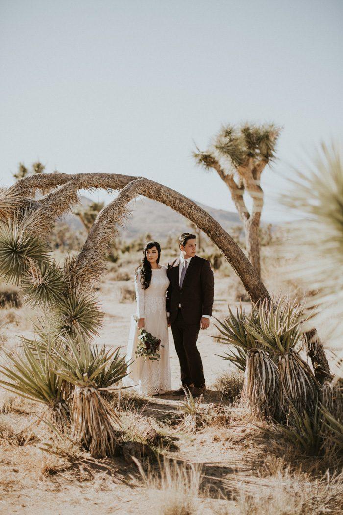 Jewel Tone Joshua Tree Wedding At A Secluded High Desert Homestead