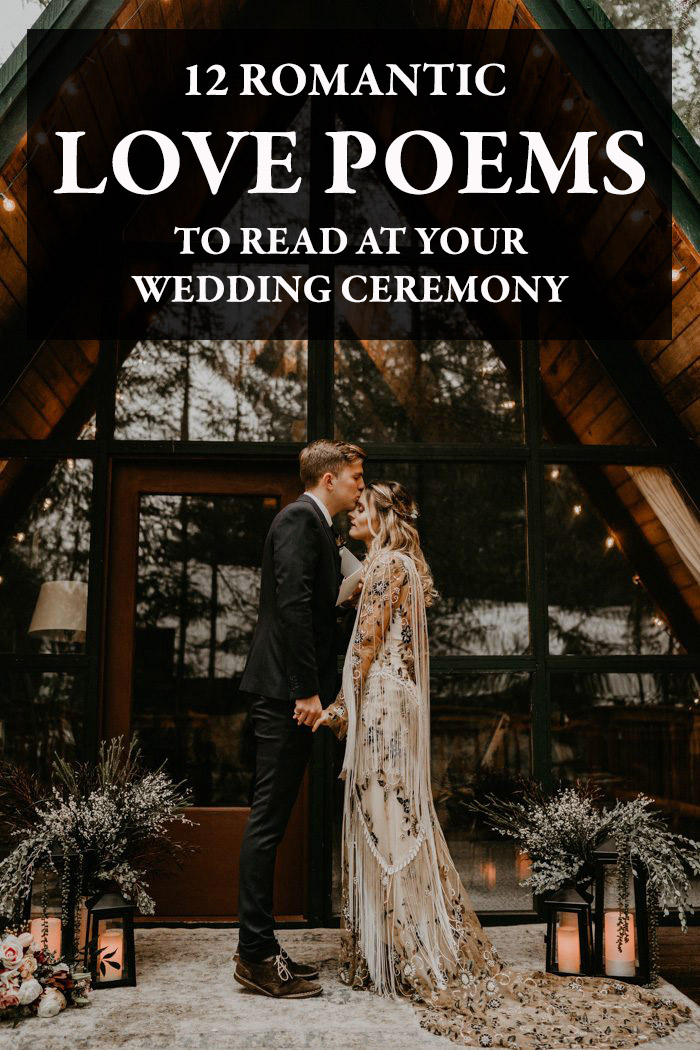 12 Romantic Love Poems To Read At Your Wedding Ceremony Junebug Weddings