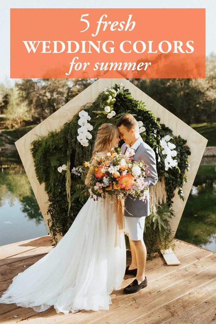 5 Fresh Wedding Colors For Summer