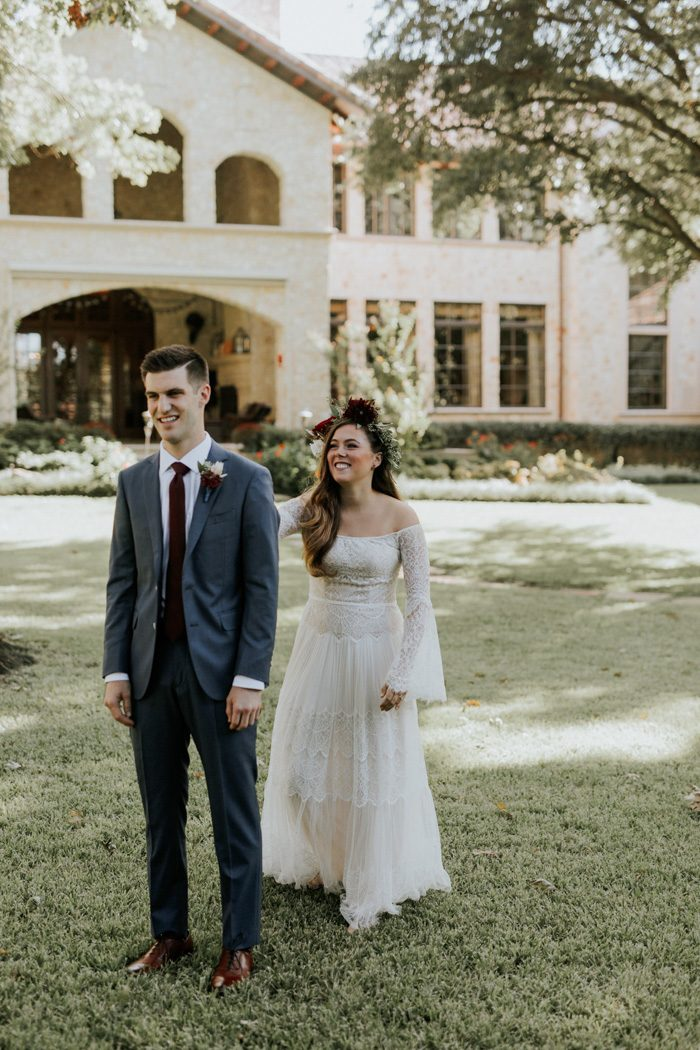 This Bohemian Backyard Wedding In Dallas Has Larger Than Life Blooms And Personality Junebug Weddings
