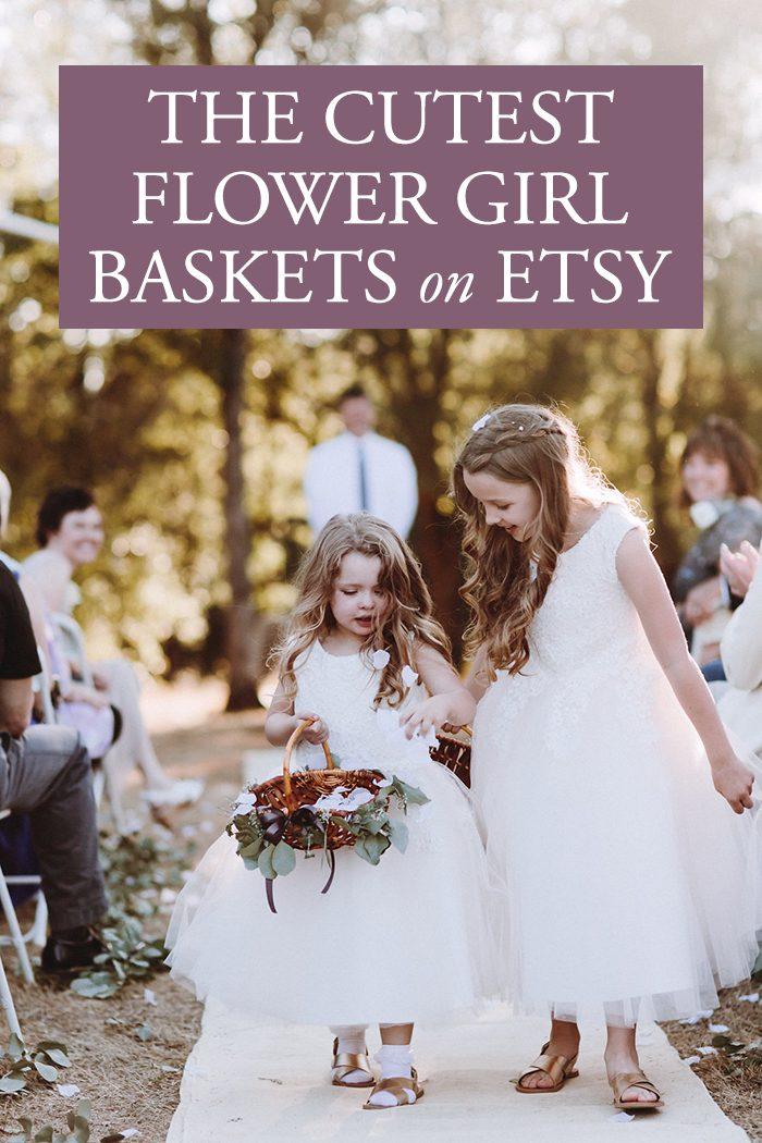 The Cutest Flower Girl Baskets on Etsy   Junebug Weddings