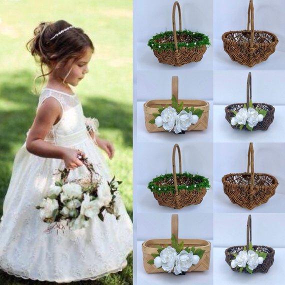 Flower Girl Baskets For Weddings: The Cutest Flower Girl Baskets On Etsy