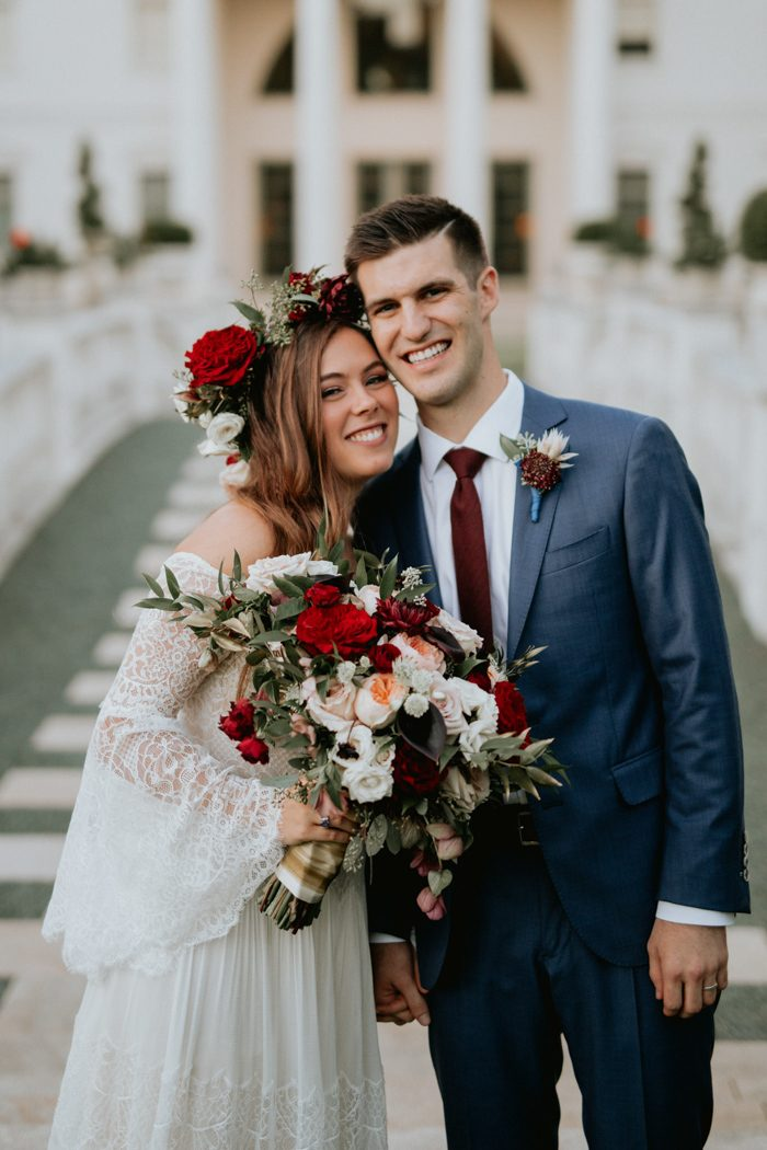Bohemian wedding wedding blog posts archives junebug weddings we like big blooms and we cannot lie which is why were totally obsessed with this bohemian backyard wedding in dallas hunter and grants floral forward junglespirit