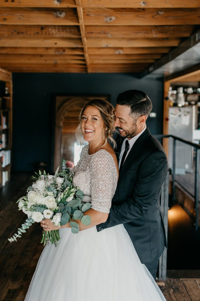9364549635e8 ... got an urban/rustic venue like Smoky Hollow Studios and a  draw-dropping, crystal-topped wedding gown, the simplest of details really  do go a long way!