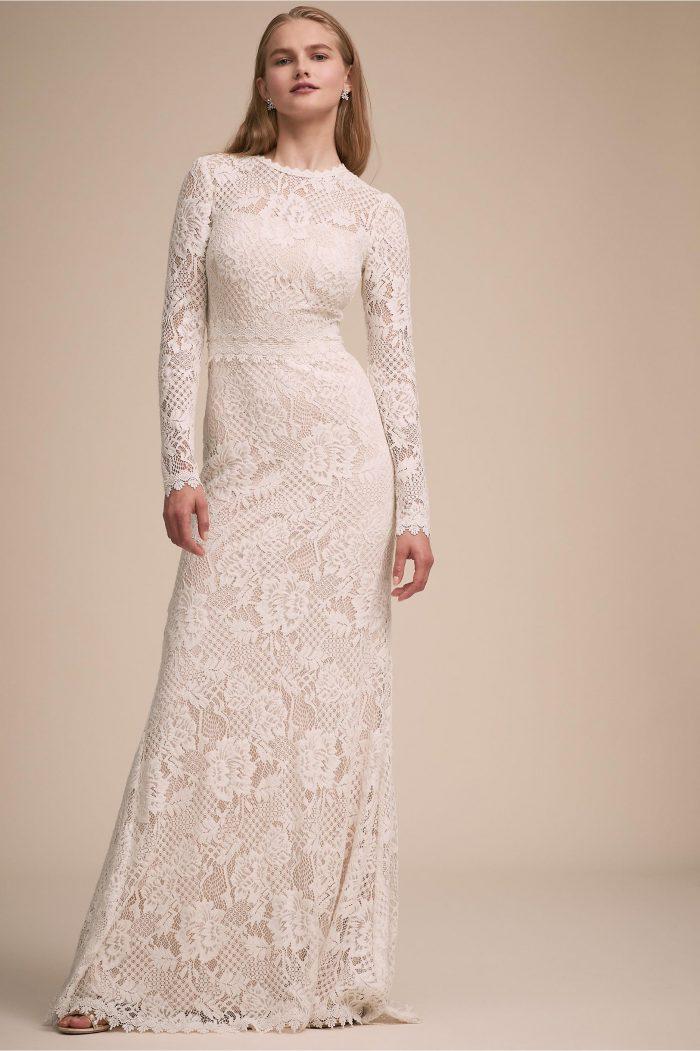 2e3c7e44f6e5 27 Fall Wedding Dresses That Are Cool & Cozy | Junebug Weddings