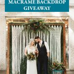 Bohemian Wedding Macrame Backdrop Giveaway from The House Phoenix – Three Winners!