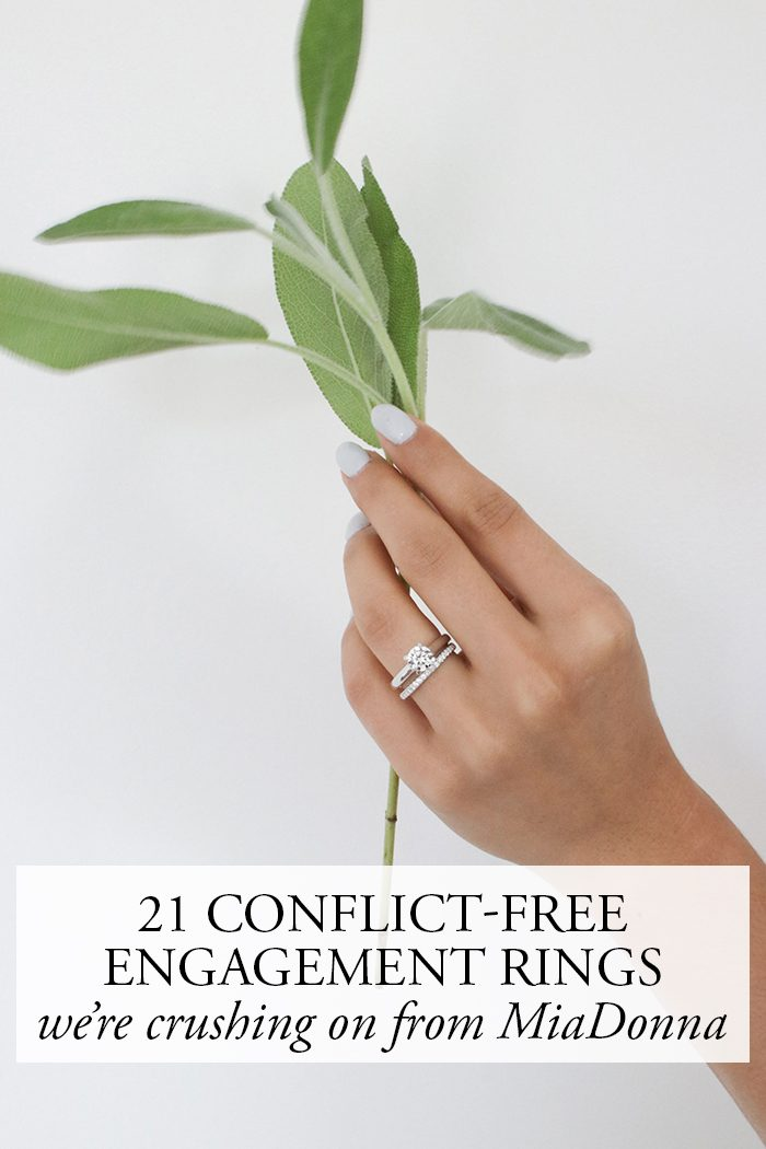 21 Conflict Free Engagement Rings We Re Crushing On From Miadonna