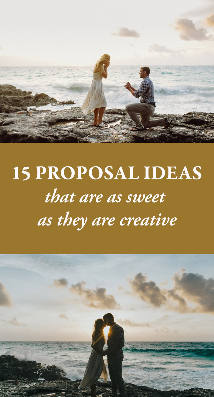Wedding Proposal Ideas.15 Proposal Ideas That Are As Sweet As They Are Creative