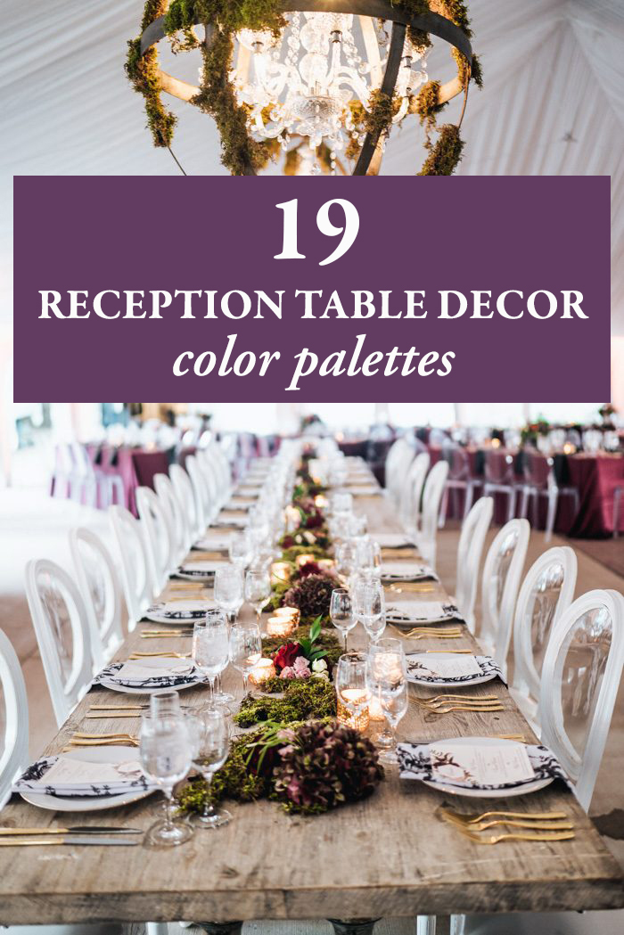 Wedding Receptions Tables.19 Reception Table Decor Color Palettes Junebug Weddings