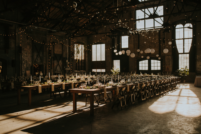 This Creative Couple Planned a Unique Industrial Wedding at