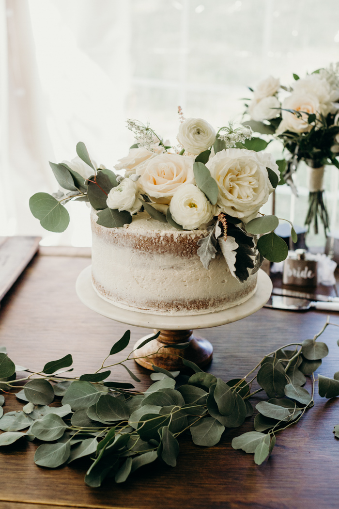 This Emotional Ontario Wedding At Home Uses Greenery Decor In The